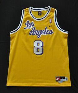 KOBE BRYANT #8 Los Angeles Lakers Rewind 1961 Nike Swingman Jersey Cursive Men L