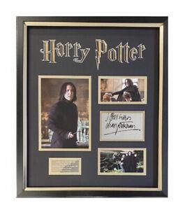 Alan Rickman signed Harry Potter Presentation - AFTAL OnlineCOA