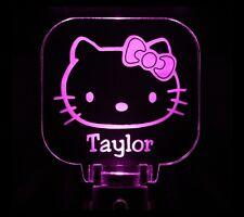 Hello Kitty Night Light Girls Personalized LED Sensor Handmade