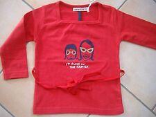 """(84) Imps & Elfs Baby Shirt zum Binden mit Druck """"it runs in the family"""" gr.74"""