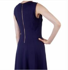 TED BAKER 6 AUDE Seam Detail Jersey Mini Dress Purple Size 0 Fit And Flare Party