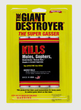 Atlas THE GIANT DESTROYER Kills Gophers Moles Rats Pests Gas Smoke Bomb 4pk NEW!