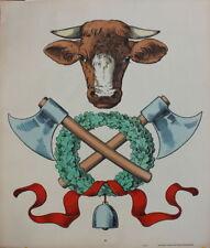 Metzgerei farbiges Plakat um 1900  Lithografie