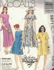 McCall's 5871 Misses Dress in 2 Lengths Petite Options 10-14 Semi Fitted New