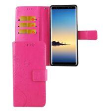 Etui Coque Fleurs pour téléphone portable SAMSUNG Galaxy Note 8 Rose