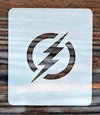 El logotipo de flash cara pintura de la plantilla 7 cm X 6 cm 190 µ Lavable Reutilizable