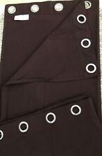 "IKEA 54"" x 93"" Solid Burgundy Blackout drapes 2 Panels 100% Cotton Metal rings"