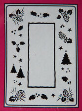 Crafts-Too/CTFD 3035/c6/Goffratura/CARTELLA/Albero di Natale/Acorn/Holly FRAME