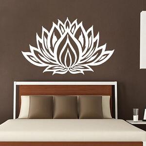 Wall Decals Lotus Sticker Yoga Decal Om Mandala Flower Bedroom Home Decor