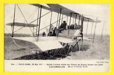 cpa Avion airplane BUC Yvelines PARIS ROME 1911 Prince de Nissolle BIPLAN FARMAN