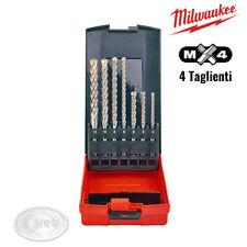 MILWAUKEE 4932451464 SET 7 PUNTE SDS-PLUS MX4 - 4 TAGLIENTI