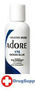BL Adore Semi-Permanent Haircolor #176 Ocean Blue 4 oz - Two PACK