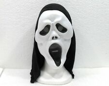 HALLOWEEN MASCHERE-SCREAM-MASCHERA IN MATERIALE PLASTICO COPRICAPO IN TELA NERA