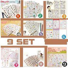 Diary calendar Filofax Schedule Notebook Deco Sticker BONNIE LOVE PIG CAT [9Set]