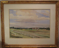 ANTIQUE AMERICAN IMPRESSIONIST NEW ENGLAND COUNTRY LANDSCAPE PAINTING LISTED ART
