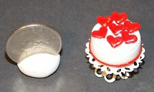 Dollhouse Miniature Valentine Hearts Cake & Stand 1:12 scale F13 Dollys Gallery