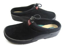SEBAGO WOMEN'S TAHOE SLIP-ON SLIPPER/SHOE BLACK SUEDED LEATHER RUBBER SOLE SZ 8