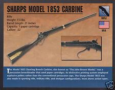 SHARPS MODEL 1853 CARBINE .52 Rifle Gun Atlas Classic Firearms PHOTO CARD