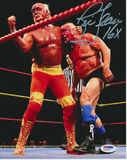 RIC FLAIR SIGNED 8x10 WRESTLING PHOTO INSCRIBED 16X PSA/DNA #Y28076 WWF