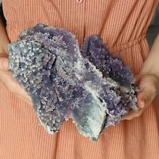 2616g Natural Purple chalcedony grape agate crystal specimens Indonesia A3534