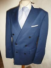 BNWT NEW MENS REISS BLUE MODERN SCOTSDALE WOOL DB SUIT JACKET 42 WAIST 36 LEG 33