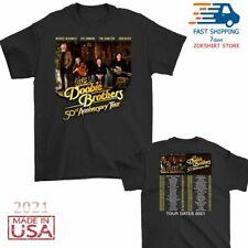 New The Doobie Brothers t Shirt 50th tour 2021 T-Shirt Size Men Black M-2XL