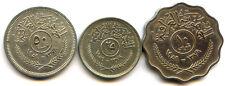 Iraq République Lot de 50 Fils - 25 Fils - 10 Fils 1959 KM 123 - 127 - 121