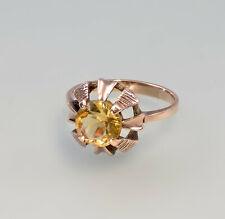 8425165 Citrin-Ring 333er Rot-Gold Gr.56