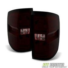 2014-2017 Chevy Silverado 1500 15-17 2500HD 3500HD Red Smoke Tail Lights Lamps