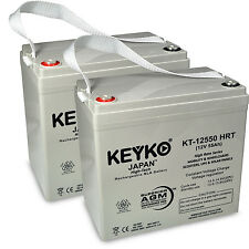 12V 55Ah Deep cycle High Rate SLA Replacement Recharg. KEYKO AGM Battery(T1) 2PK