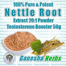100% Pure Nettle Root Concentrated 20:1 Extract Powder Testosterone Booster 50g.