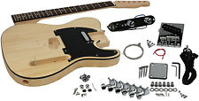Solo Tele Style DIY Guitar Kit, Basswood Body, TCK-1