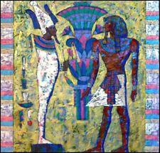 Lin Chong Original Acrylic Painting Osiris King 14 x 14 Hand Signed Make Offer