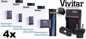 Super Hi 4-Pcs AHDBT-501 Battery & Dual Volt Charger for GoPro HD HERO5