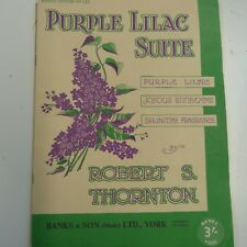 piano ROBERT S. THORNTON purple lilac suite