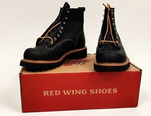 Red Wing 2935 Lineman Black Vibram Lugsole 8 D, US 8 1st Quality Japan Exclusive