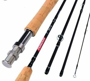 Fly Fishing Rod Carbon Honor Spey Fast Action Rings 4 Sections River Lake Pole