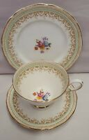 Vintage Paragon Fine Bone China Handpainted Cup Saucer & Plate c1952-64 Trio