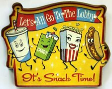 Movie Theater LED Metal Sign Snack Time Vintage Home Theatre Decor Cinema New