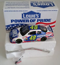 2002 1/24 JIMMIE JOHNSON #48 LOWES EMPLOYEE SPECIAL POWER OF PRIDE CUP ROOKIE **