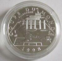 Frankreich 10 Francs 1997 Fußball-WM Deutschland Silber