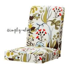 "IKEA HENRIKSDAL Slipcover Chair Cover 21"" Blomstermala Multicolor Floral NOOP"