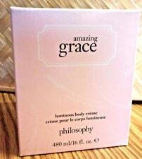 Philosophy AMAZING GRACE LUMINOUS BODY CREME ( CREAM ) 16 OZ. JUMBO BOXED NEW