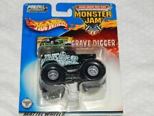 Hot Wheels Monster Jam GRAVE DIGGER - Metal Collection - 2002 - Green - New