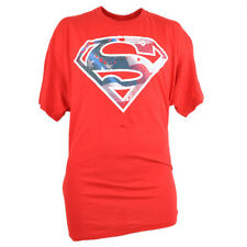 Superman DC Comic Warner Bros XLarge XL Mens Tshirt Tee Red Super Hero Movie