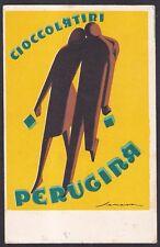 PUBBLICITARIA Cioccolatini PERUGINA Illustratore SENECA Cartolina VIAGGIATA 1935