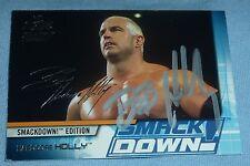 Hardcore Bob Holly Signed 2002 Fleer Wwe Card #54 Raw vs SmackDown Autograph Wwf