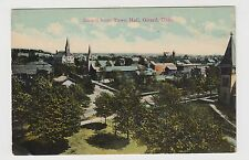 Vintage Postcard Girard, Ohio GIRARD FROM TOWN HALL ~ Unused