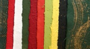 20< A4 sheets MIXED CHRISTMAS COLOURS mulberry papers THICK TEXTURED xmas craft