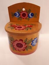 VINTAGE EUROPEAN SALT BOX.FOLK ART